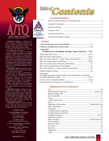 Contents table of - Airlift/Tanker Association