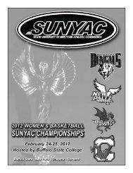 tournament program - pdf - Buffalo State College Athletics