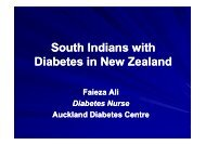 South Indians with Diabetes in New Zealand
