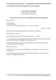 2.1.5 Musterbrief: Anerkennung der Gemeinnützigkeit
