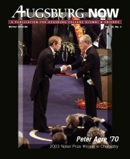 Download the Winter 2003-04 PDF - Augsburg College