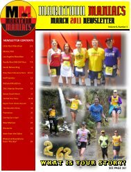 MARCH 2011 NEWSLETTER - Marathon Maniacs