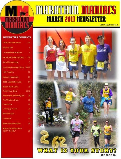 MARCH 2011 NEWSLETTER - Marathon Maniacs
