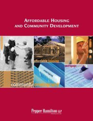 affordable housing and community development - Pepper Hamilton ...