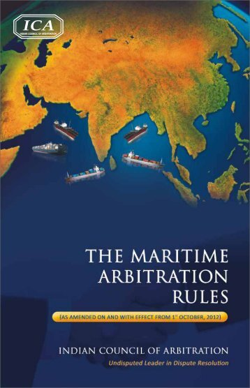 Maritime Arbitration Rules book - Indian Council of Arbitration