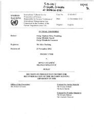 Decision on prosecution motion for reconsideration of the ... - ICTY