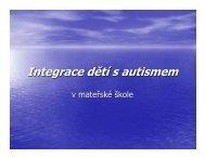 Integrace dětí s autismem