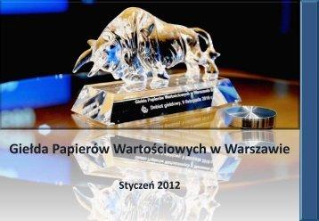 Prezentacja Grupy GPW