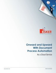 Onward and Upward With Document Process Automation - Esker