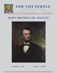 F or T he P eople HAPPY BIRTHDAY, MR. LINCOLN! - Abraham ...