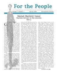 Spring 2005 - Abraham Lincoln Association