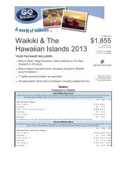 Waikiki & The Hawaiian Islands 2013 - Searle Travel