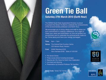 to download the Green Tie flyer and registration 2.pdf - Environment ...