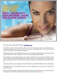Wir bieten Urlaub zum HALBEN PREIS – www.hoxami.com Die ...