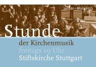 Stunde der Kirchenmusik - Stiftsmusik Stuttgart
