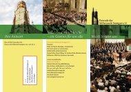 Musik in der Stifts kirche – ein Gewinn für uns alle ... - Bach : vokal