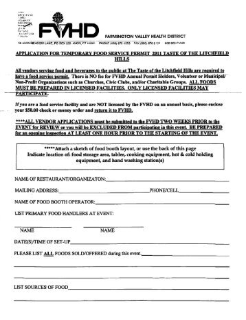 application for temporary food service permit 2011 taste of the ...