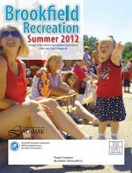 Summer 2012 - Village of Brookfield