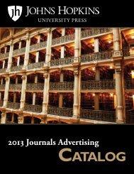 CATALOG - The Johns Hopkins University Press