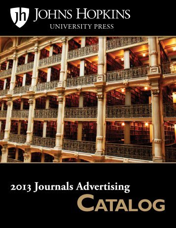 CATALOG - The Johns Hopkins University Press