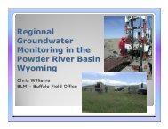 Williams Regional Groundwater Monitoring - Wyoming BLM