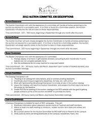 RCS12 Committee Job Descriptions - Rainier Christian Schools