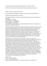Procès-Verbal (PV) Assemblée Générale (AG ... - Triathlon Fribourg