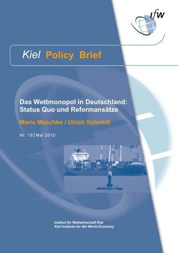 Kiel Policy Brief 18 - Christian-Albrechts-Universität zu Kiel