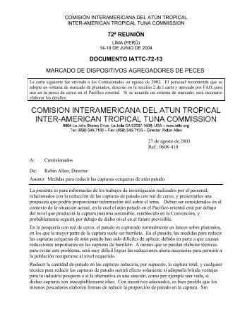 IATTC-72-13 Marcado plantados - Comisión Interamericana del ...