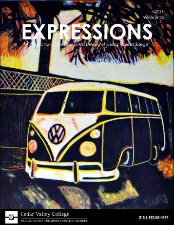 Expressions 2011 Magazine - Cedar Valley College