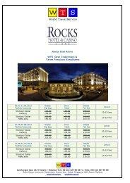 Rocks Hotel Kıbrıs fiyat listesi için tıklayınız
