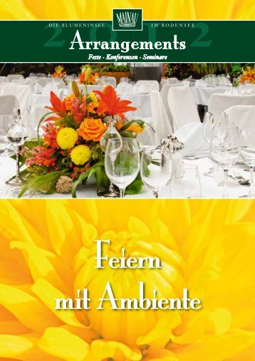 Bankettmappe Mainau-Gastronomie 2012 - Insel Mainau