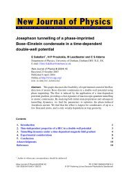 Josephson tunnelling of a phase-imprinted Bose–Einstein ... - Physics