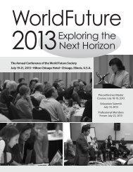 WorldFuture 2013: Exploring the Next Horizon - World Future Society