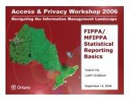 FIPPA/ MFIPPA Statistical Reporting Basics