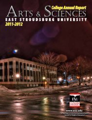 2011-2012 report - East Stroudsburg University
