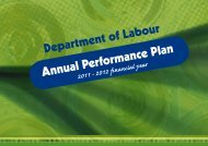 Annual Performance Plan 2011 - Department of Labour