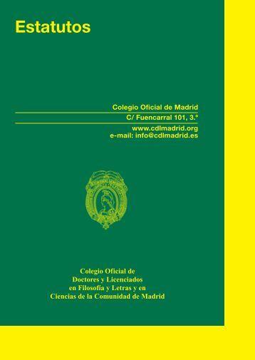 Estatutos - Colegio de Doctores y Licenciados