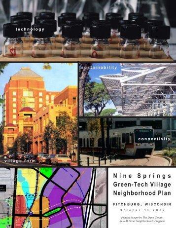 Nine Springs Green-Tech Village Neighborhood ... - City of Fitchburg
