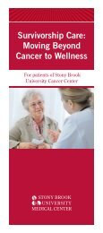 Breast Cancer Survivorship Brochure - Stony Brook University ...