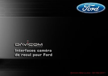 Interfaces caméra de recul pour Ford - Davicom Electronics