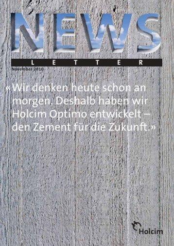 Newsletter 1 / 2010 (PDF-Datei, 589 KB) - Holcim Schweiz