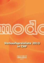 Verkaufspreisliste 2013 in CHF - Effetto Luce