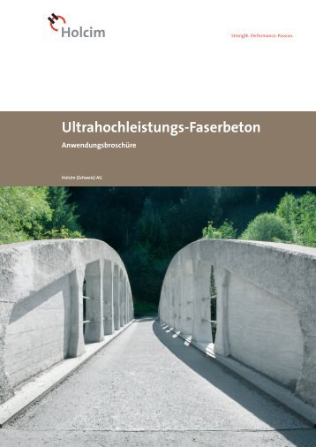 Ultrahochleistungs-Faserbeton - Holcim Schweiz