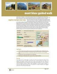 mont blanc guided walk - Raincoast Books