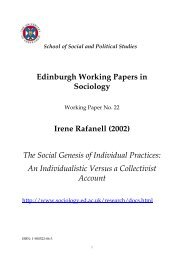 Edinburgh Working Papers in Sociology Irene Rafanell (2002) The ...