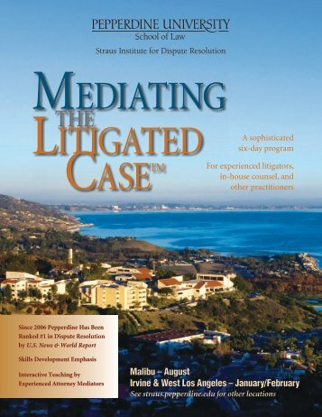 Mediating the Litigated Case