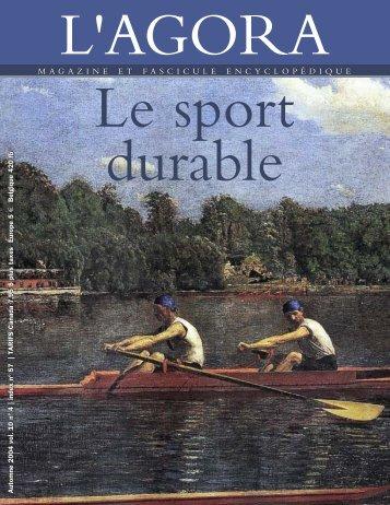 Sport durable - La Lettre de L'Agora