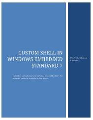CUSTOM SHELL IN WINDOWS EMBEDDED STANDARD 7 - Microsoft