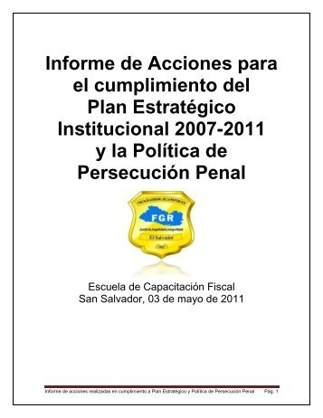Informe-Cumplimiento.. - Escuela de Capacitación Fiscal - Fiscalía ...